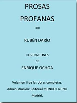 Picture of Prosas Profanas